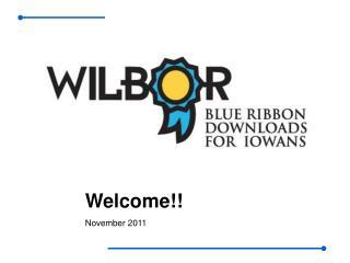 Welcome!! November 2011