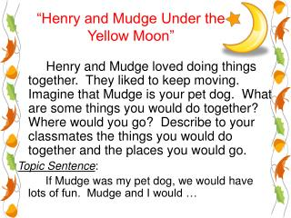 """Henry and Mudge Under the  Yellow Moon"""
