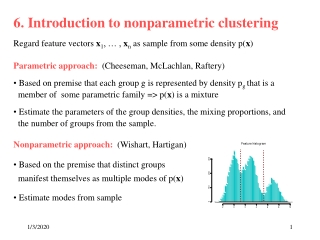 6. Introduction to nonparametric clustering