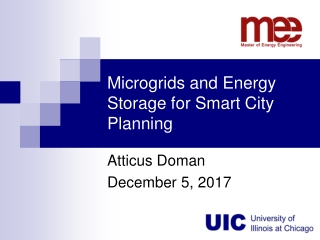 Microgrids and Energy Storage for Smart City Planning