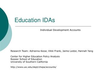 Education IDAs