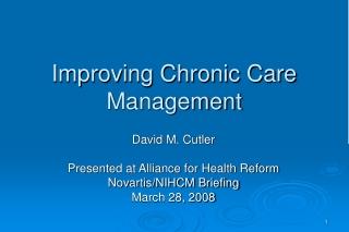 Improving Chronic Care Management
