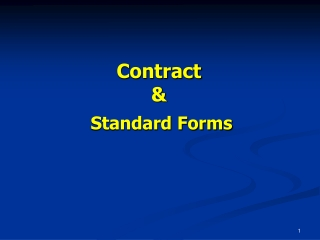 Contract & Standard Forms