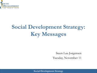 Social Development Strategy: Key Messages