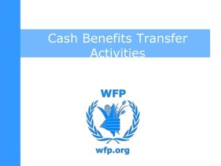 Cash Benefits Transfer Activities