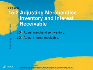 LESSON 15-2 Adjusting Merchandise Inventory and Interest Receivable