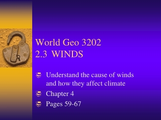 World Geo 3202 2.3WINDS