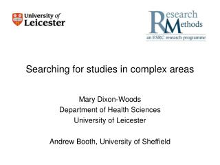 Searching for studies in complex areas
