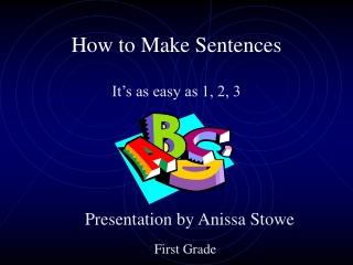 How to Make Sentences