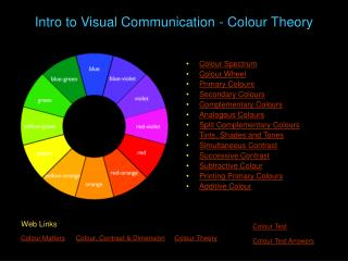 Intro to Visual Communication - Colour Theory