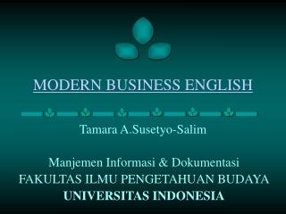 MODERN BUSINESS ENGLISH