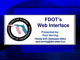 FDOT's Web Interface