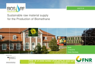 Sustainable raw material supply