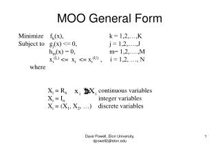 MOO General Form