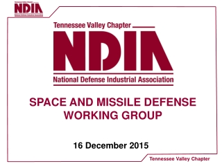SPACE AND MISSILE DEFENSE WORKING GROUP