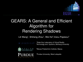 GEARS: A General and Efficient Algorithm for Rendering Shadows