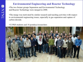 Environmental Engineering and Reactor Technology