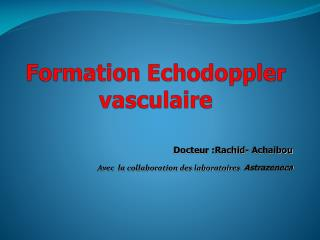 Formation  Echodoppler   vasculaire