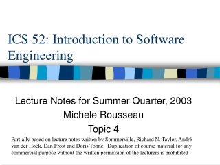 ICS 52: Introduction to Software Engineering
