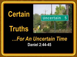 Certain  Truths