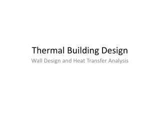 Thermal Building Design