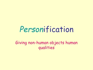 Person ification