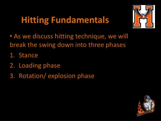 Hitting Fundamentals