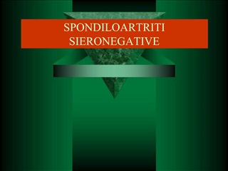 SPONDILOARTRITI SIERONEGATIVE