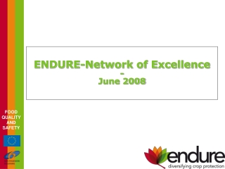 ENDURE-Network of Excellence - June 2008