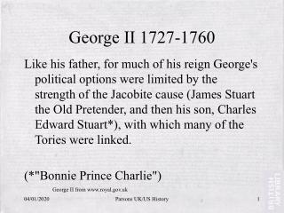 George II 1727-1760
