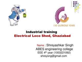 Industrial training   Electrical Loco Shed, Ghaziabad