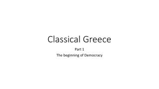 Classical Greece