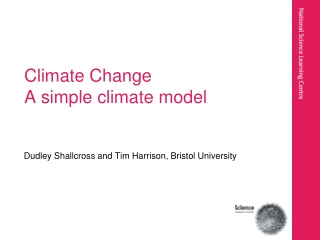 Climate Change A simple climate model