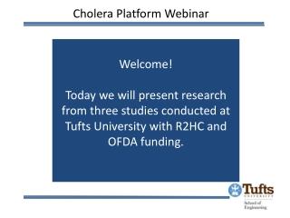 Cholera Platform Webinar