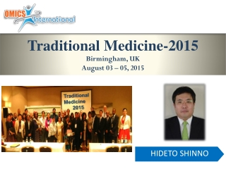Traditional Medicine-2015 Birmingham, UK August 03  –  05, 2015