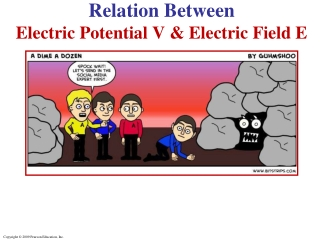 Relation Between Electric Potential V & Electric Field E