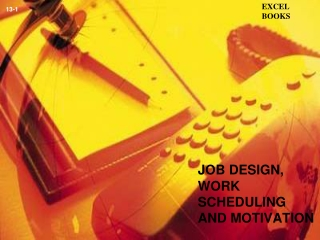 JOB DESIGN, WORK SCHEDULING AND MOTIVATION