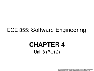 ECE 355 : Software Engineering
