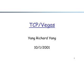 TCP/Vegas