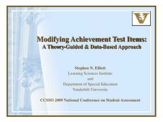 Modifying Achievement Test Items: A Theory-Guided & Data-Based Approach