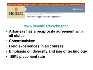 hendrix/education Arkansas has a reciprocity agreement with all states Constructivism