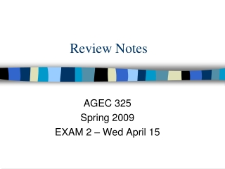Review Notes