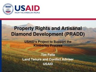 Property Rights and Artisanal Diamond Development (PRADD)