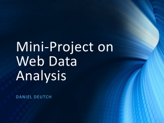 Mini-Project on Web Data Analysis