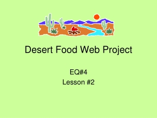 Desert Food Web Project