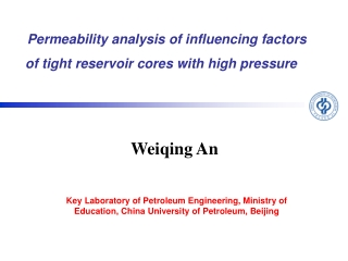 Permeability analysis of influencing factors of tight reservoir cores with high pressure