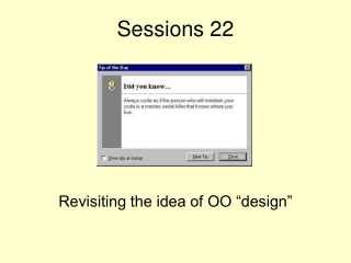 Sessions 22