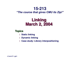 Linking March 2, 2004