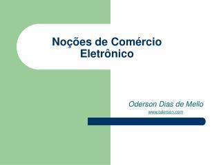Noções de Comércio Eletrônico