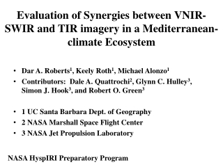Evaluation of Synergies between VNIR-SWIR and TIR imagery in a Mediterranean-climate Ecosystem
